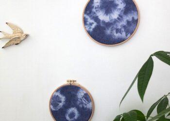 Shibori-kuvioidut taulut